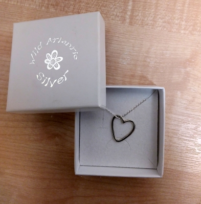 Small Floating Heart Pendant